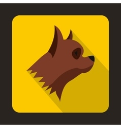 Pinscher dog icon flat style vector image