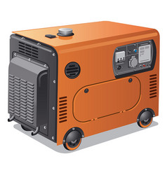 power generators on wheels vector image