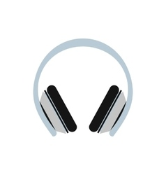 Protective headphones icon in flat style vector