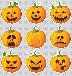 pumpkinsset vector image