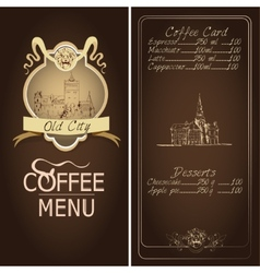 Restaurant old city menu template vector image