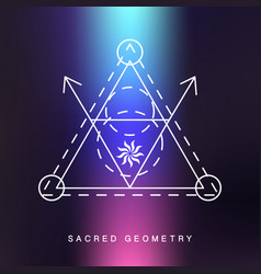 sacred geometry sign photo overlay vector image
