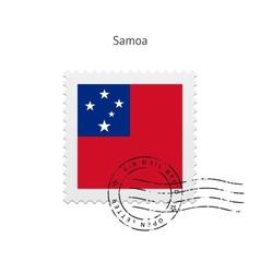 Samoa Flag Postage Stamp vector