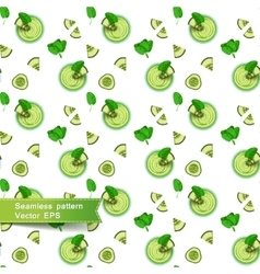 Seamless pattern with green smoothies and vector image