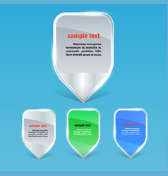 set of colorful markers for business concepts vector image