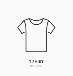 T-shirt flat line icon apparel store sign thin vector