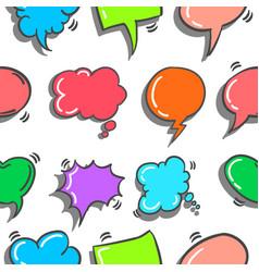 Text balloon doodles vector