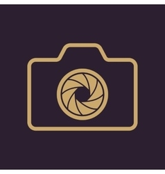 The camera icon Photo symbol Flat vector
