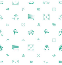 Toy icons pattern seamless white background vector