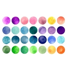 Watercolour circle textures vector image