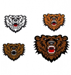 Wild bear tattoo vector
