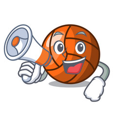 with megaphone volleyball character cartoon style vector image