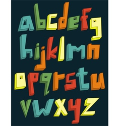colorful 3d lower case alphabet vector image vector image