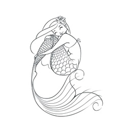 mermaid fairy-tale character vector image