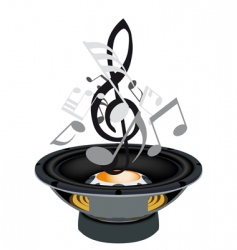 Musical grunge background vector image