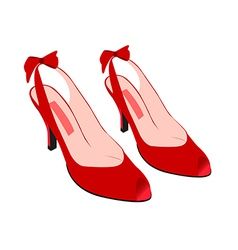 red high heels vector image vector image