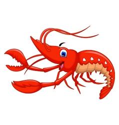 shrimp cartoon for you design vector image vector image