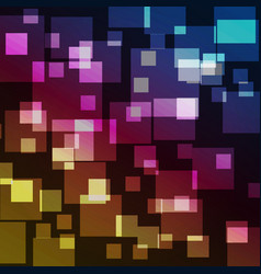squares bokeh with colorful abstract background vector image vector image