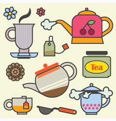 TeaTime Elements Flat vector image vector image