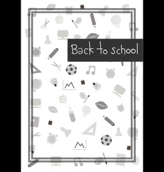 Back to school background 2 vector image vector image
