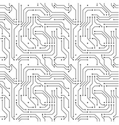 computer microchip seamless pattern on white vector image vector image