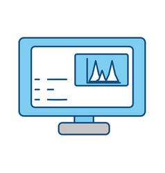 Computer screen symbol vector