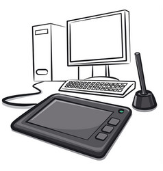 digital graphics tablet vector image vector image