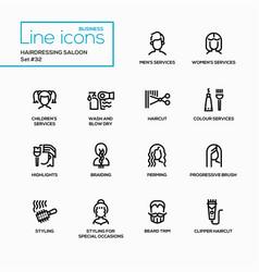 hairdressing saloon - modern single line vector image vector image