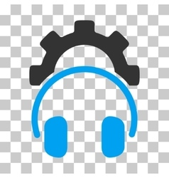 Headphones Configuration Gear Icon vector image