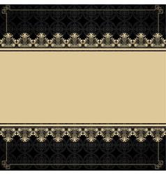 Vintage background with design elements vector image vector image
