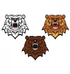 Wild bear tattoo vector