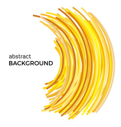 Abstract background with yellow colorful curved li vector