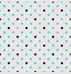 Tile pattern with black and mint blue polka dots vector
