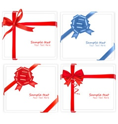 big set of red gift bows with vector image vector image