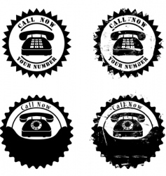 rubber stamp with phone vector image
