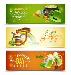 saint patricks day banners set vector image vector image