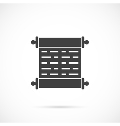 Scroll icon vector image