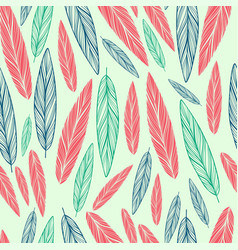 seamless pattern with feather vector image