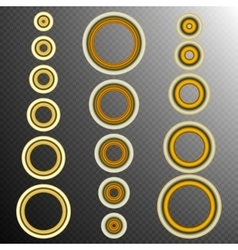 set of 16 Golden rings EPS 10 vector image