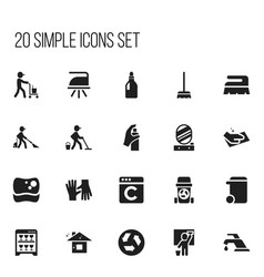 set of 20 editable cleanup icons includes symbols vector image