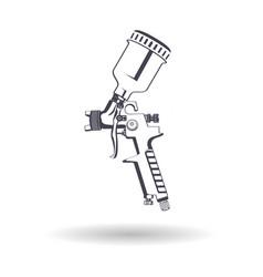 Spray gun monochrome vector