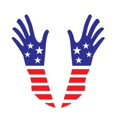 USA hands vector image