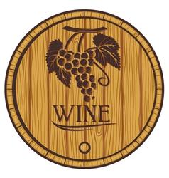 Wooden barrel for wine vector
