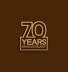 70 years anniversary design line style vector
