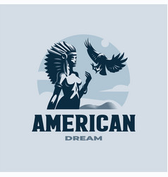 a native american woman vector image