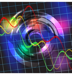 Abstract colorful techno background vector image