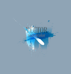 abstract isolated colorful watercolor stain vector image