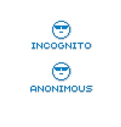 Anonymous personality wearing eyeglasses retro vector