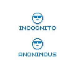 Anonymous personality wearing eyeglasses retro vector