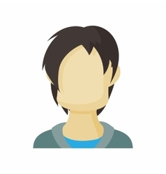 Avatar men teenager icon cartoon style vector
